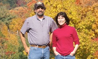 Karen and Kevin Christensen, owners of the mack brook farm in argyle, new york